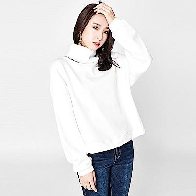 SUITANGTANG 繡線高領上衣-白