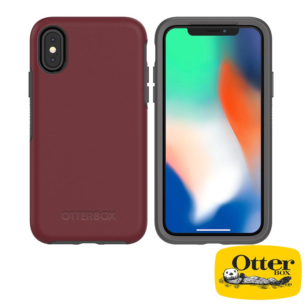OtterBox iPhoneX/iPhoneXS炫彩幾何系列保護殼-醇紅