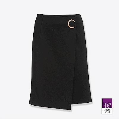 ILEY伊蕾 C字飾環活片A字裙(黑)