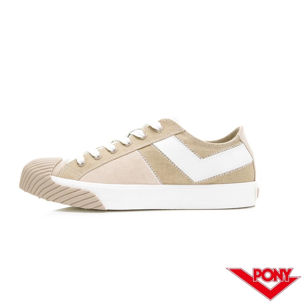 【PONY】Shooter系列 雙色潮流百搭餅乾鞋 帆布鞋 休閒鞋 女鞋 奶茶色
