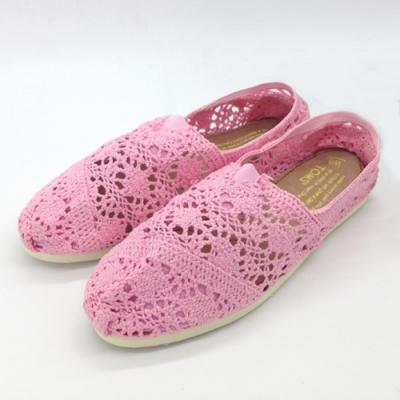 KEITH-WILL時尚鞋館 (現貨+預購) 花樣年華蕾絲鉤花鏤空懶人鞋-粉
