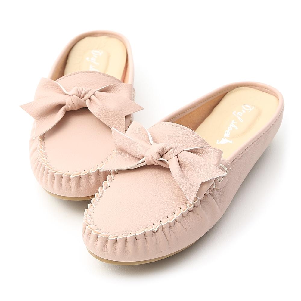 D+AF 甜美日常.MIT蝴蝶結豆豆穆勒鞋*粉