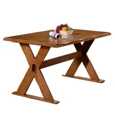 【AT HOME】日式鄉村4.<b>3</b>尺全實木餐桌/工作桌/休閒桌/洽談桌/吧台桌/辦公桌(勃肯)