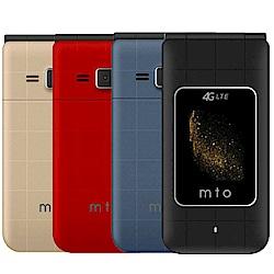 MTO M18 Plus 4G雙卡雙待親情定位老人折疊智慧型手機