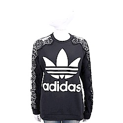 Stella McCartney x Adidas聯名款 蕾絲拼接黑色運動衫