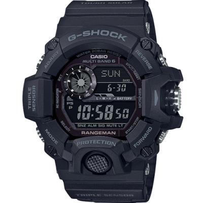 CASIO G-SHOCK 迷霧黑底反轉氣壓溫度運動錶(GW-9400-1B)