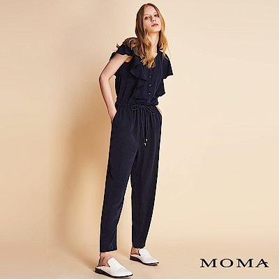 MOMA荷葉袖連身褲