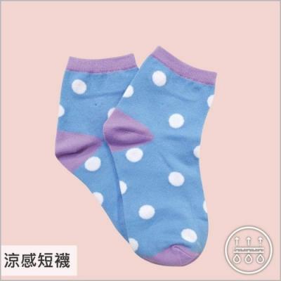 貝柔涼感夏日少女短襪-點點(6雙組)