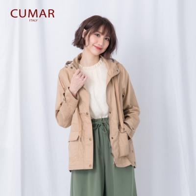 【CUMAR】率性抽繩連帽-外套(三色/魅力價格)