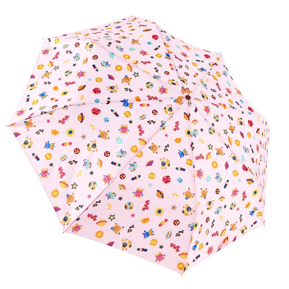 RAINSTORY怪獸星球(粉)抗UV隨身自動傘