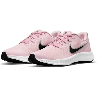 NIKE 耐吉 慢跑鞋 運動鞋 緩震 女鞋 大童鞋 粉 DA2776-601 STAR RUNNER 3 GS