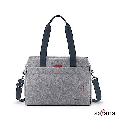 satana - Fresh 輕職人俐落肩背包 - 麻花灰