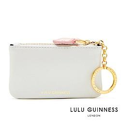 LULU GUINNESS FRANKIE 鑰匙零錢包 (灰白)