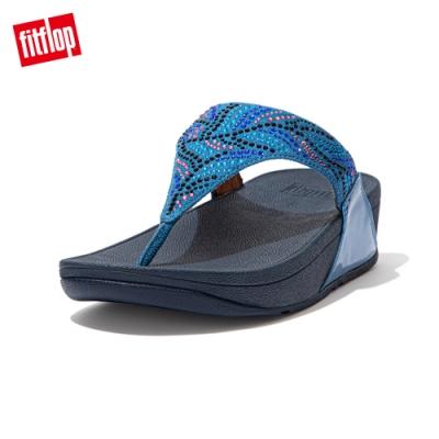 FitFlop LULU CRYSTAL FEATHER TOE POST SANDALS 水鑽夾腳涼鞋 女(海藍色)