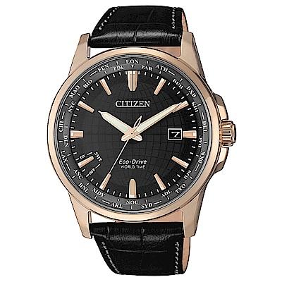 CITIZEN 星辰GENT限量地球防磁小牛皮帯腕錶41mm(BX1008-12E)