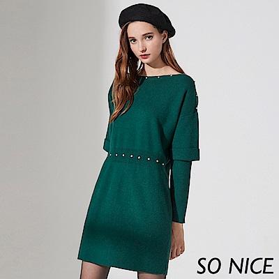 SO NICE氣質造型袖針織洋裝