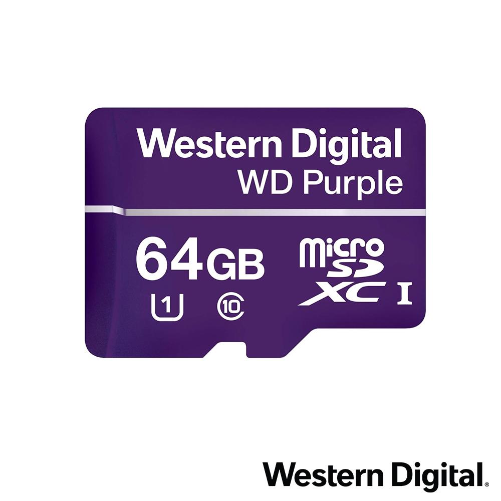 WD 紫標 microSDXC UHS-1 U1 64GB 監控專用記憶卡 @ Y!購物