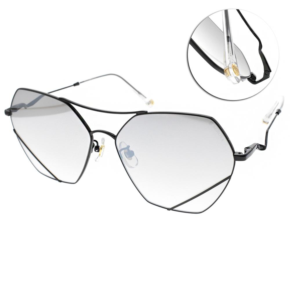 SEROVA太陽眼鏡 造型飛官款/黑 #SS9045 C16