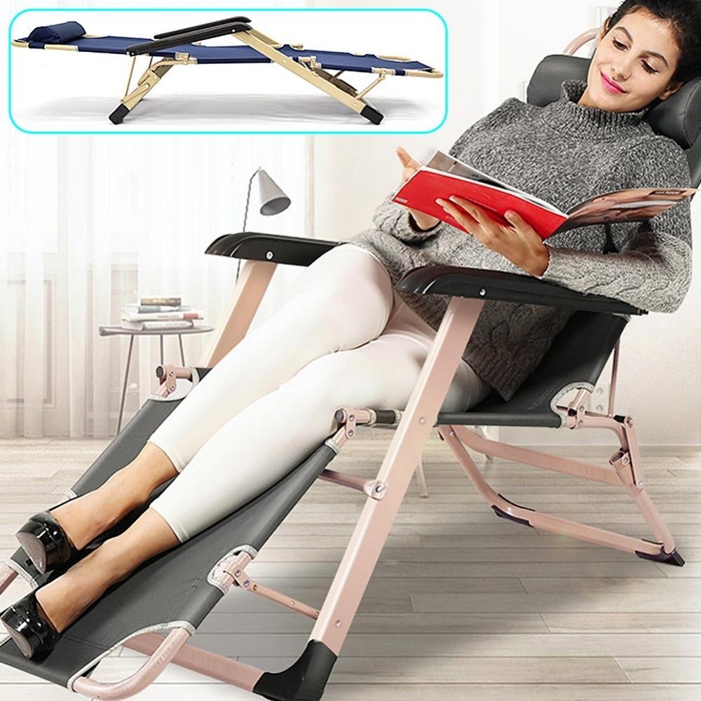 方管加粗休閒躺椅 行軍床折疊床看護床