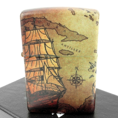 ZIPPO 美系~Pirate Ship-海盜船-540色彩印工法打火機