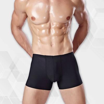 男內褲 涼感冰絲輕薄無痕素面男內褲 經典黑 L-3XL ThreeShape