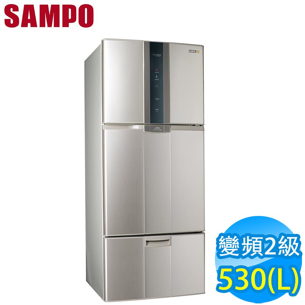 SAMPO聲寶 530L 2級變頻3門電冰箱 SR-A53DV(Y2) 福利品