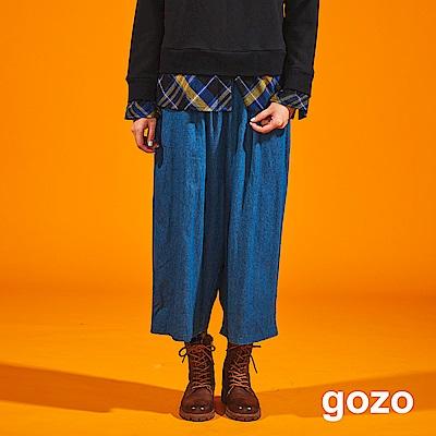 gozo 修身棉料低檔七分寬褲(二色)