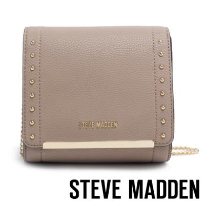 STEVE MADDEN-BLYRICM 時尚氣質鍊帶斜肩背宴會小方包-棕色