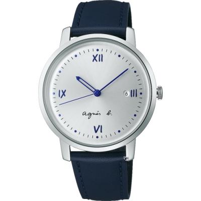 agnes b. marcello系列手寫時標經典腕錶 (VJ32-KZD0Z)BG8012X1-38.6mm