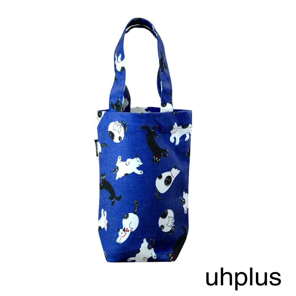 uhplus 隨行環保飲料袋(長版) - 青青貓島(晴空)