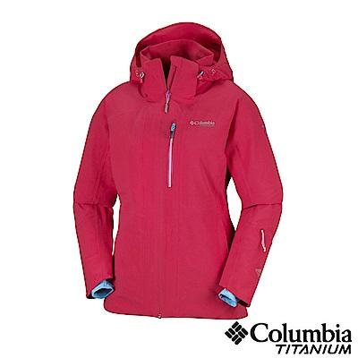 Columbia哥倫比亞 女款-鈦 Omni-HEAT鋁點保暖防水外套-紅色