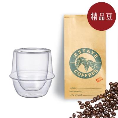 【屋告好喝】現烘精品咖啡豆半磅+雙層玻璃咖啡杯80ml