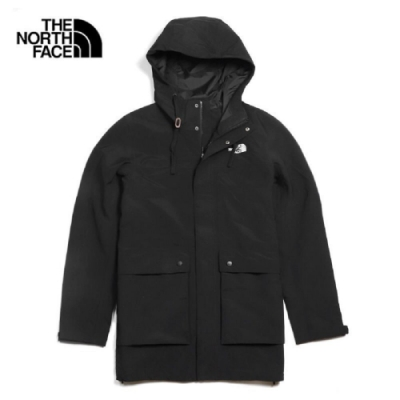 The North Face 男 防水透氣衝鋒衣外套 黑-NF0A4U7YJK3