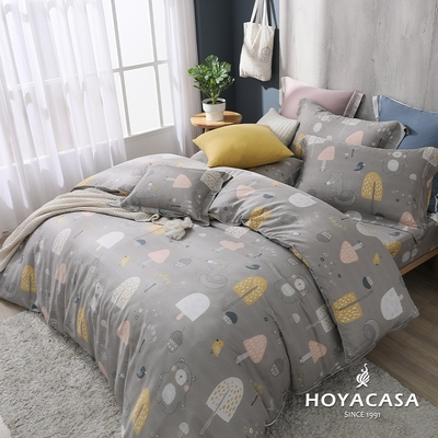 【HOYACASA 】加大抗菌天絲兩用被床包四件組-萌樂園