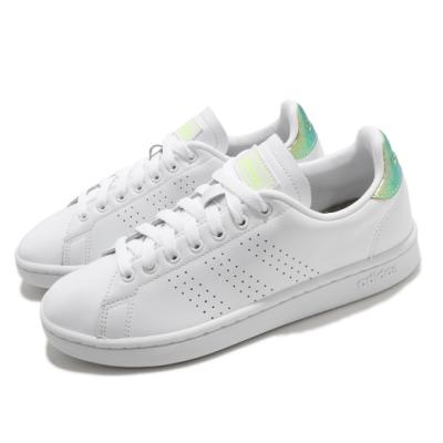 adidas 休閒鞋 Advantage 復古 低筒 女鞋 愛迪達 基本款 皮革鞋面 上學 白 綠 FY8956