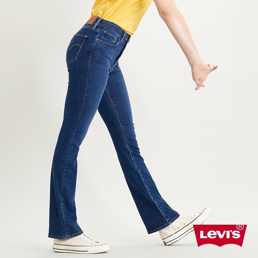 Levis 女款 725 高腰合身靴型牛仔褲 精工藍染水洗 彈性布料