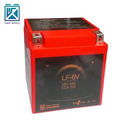 【Super Battery 勁芯】機車擋車專用鋰鐵電池6號 LF-6V(300CC以下適用)
