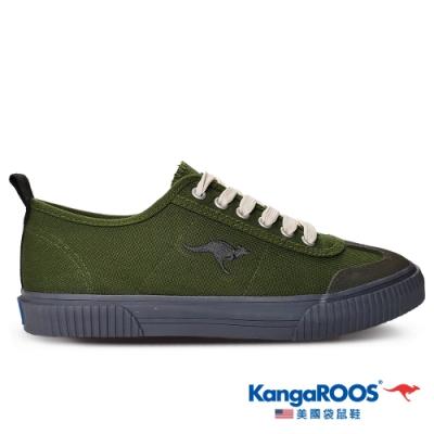 KangaROOS 美國袋鼠鞋 女 BOSTON 79 手工帆布鞋/休閒鞋(墨綠-KW11105)