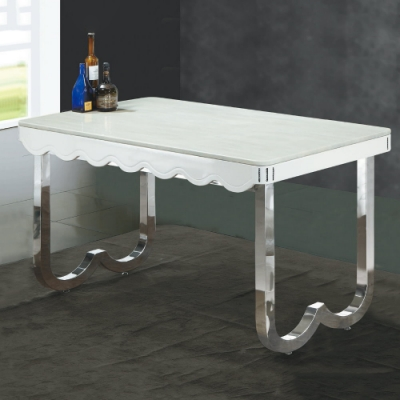 MUNA 達野4.6尺白色石面餐桌 140X80X85cm