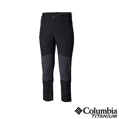 Columbia 哥倫比亞 男款-鈦UPF50防潑長褲-黑色 UAE06870BK