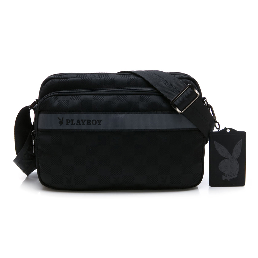 PLAYBOY- 斜背包 Back to Street系列-黑色