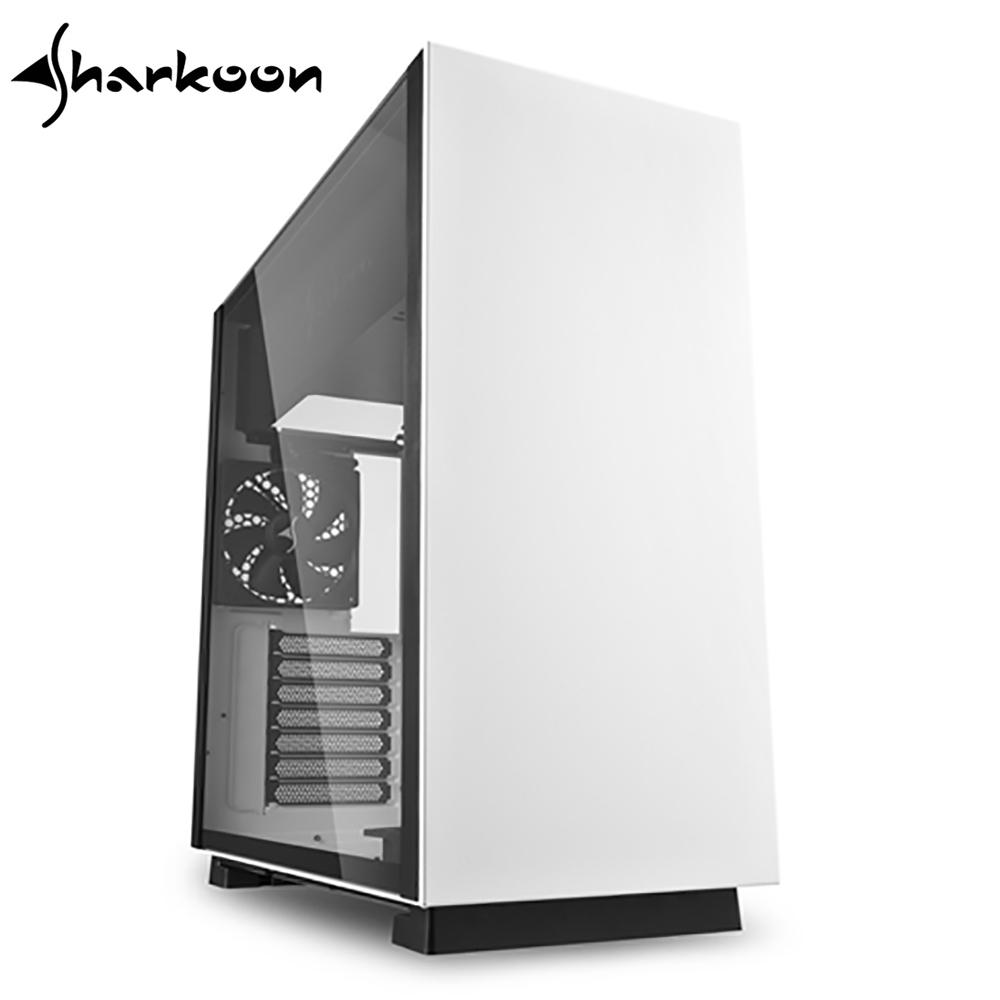 Sharkoon 旋剛 鋼鐵者 透側 ATX 白 電腦機殼