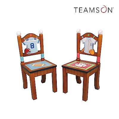 Teamson 小小運動家兒童木製椅子 (2入組)