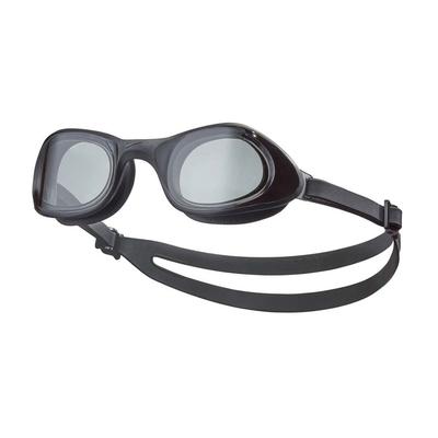 NIKE SWIM 成人超廣角泳鏡-蛙鏡 游泳 戲水 海邊 沙灘 NESSB161-014 黑