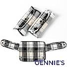 Gennies專櫃-英倫揹巾口水巾(防肯套)+揹巾環繞墊(黑白)