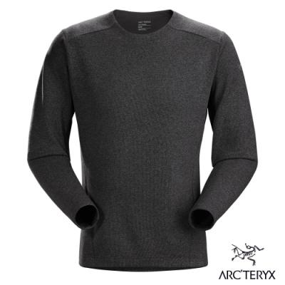 Arcteryx 始祖鳥 男 Covert LT 針織 刷毛圓領衫 黑灰