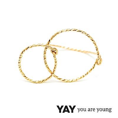 YAY You Are Young Fruits Dor 雅果無限戒指 金色髮絲紋