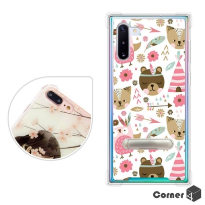Corner4 Samsung Galaxy Note 10 四角防摔立架手機殼-森林物語