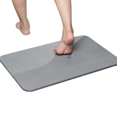 樂嫚妮 珪藻土吸水速乾地墊/腳踏墊/浴墊-60X39cm-灰