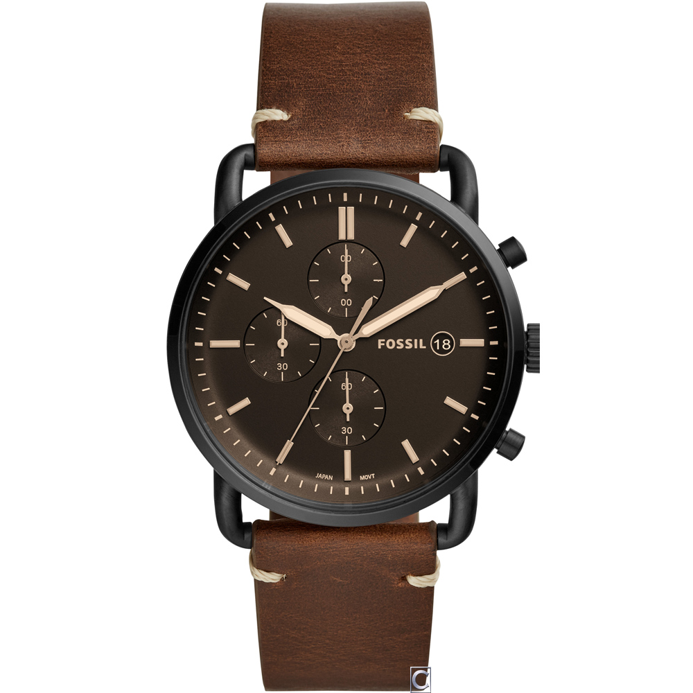 FOSSIL 紐約都會紳士腕錶(FS5403)42mm